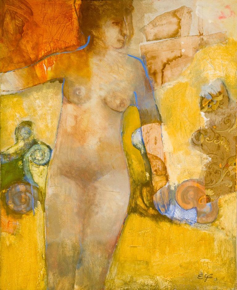 """""""Frau mit Arabeske"""" 100x80cm, € 2.200,-"""