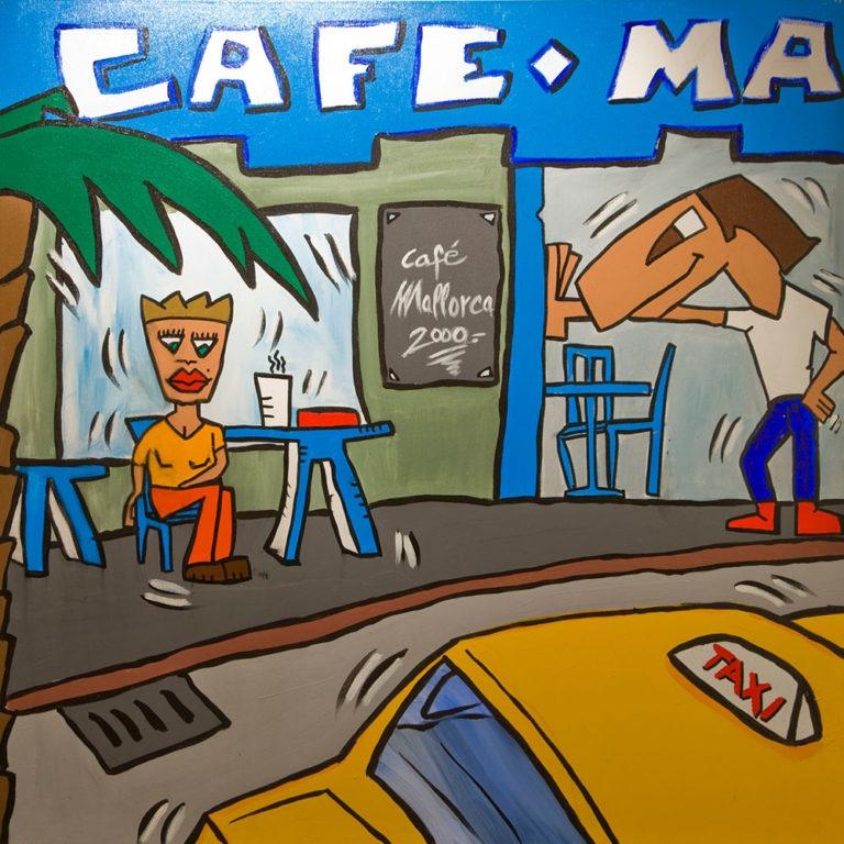 """""""Café Mallorca"""" 100x100cm, € 2.600,-"""
