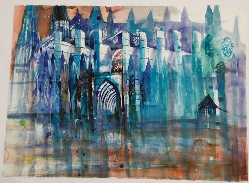 """Kathedrale"" 56x76cm, € 2.000,"