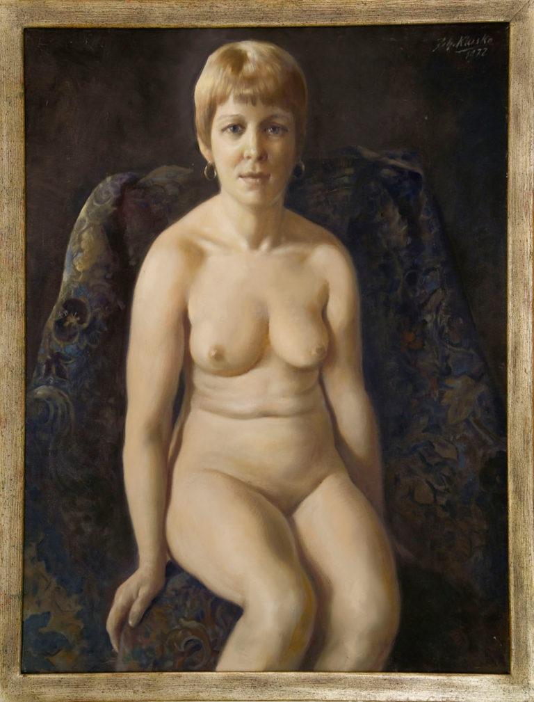 """""""Weiblicher Akt , Beate"""" 97x77cm, € 4.000,00"""