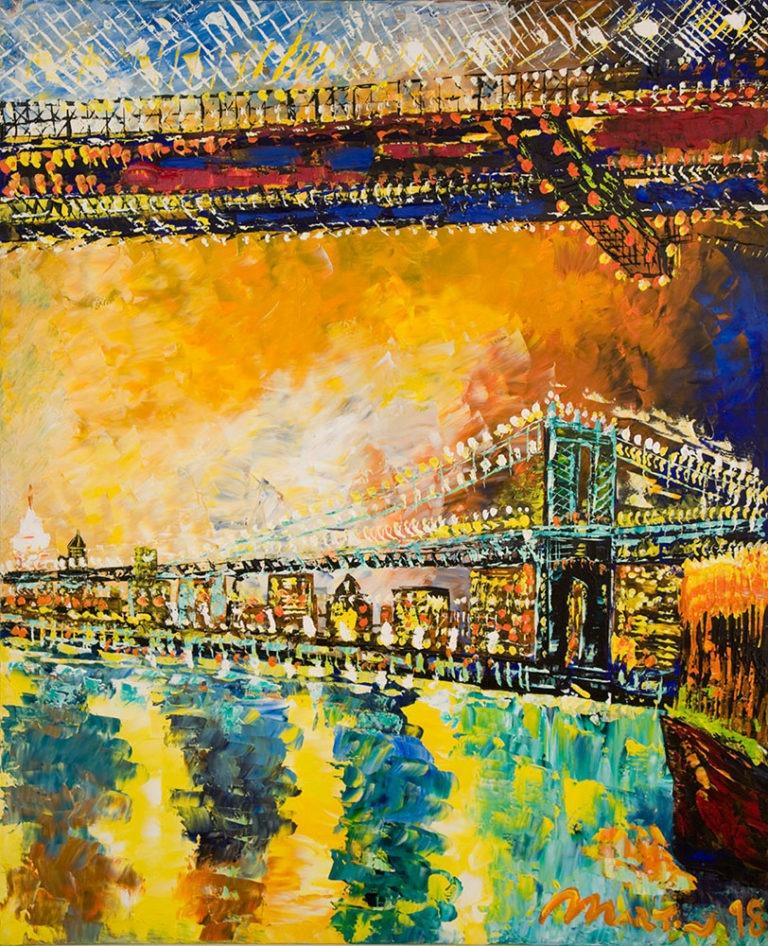 """Brooklyn Bridge"" 160x132cm, € 2.300,00"